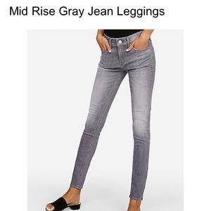 EXPRESS Stretch leggings grey size 0S